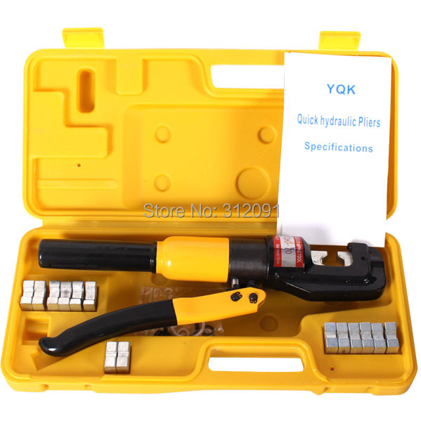 (Ship From AU) 10 Ton Hydraulic Crimping Tool Battery Cable Wire Terminal Crimper Tool Hydroclamp with 8 dies 6-70mm2 free shipping 16 400mm2 baterry hydraulic crimper crimping tool
