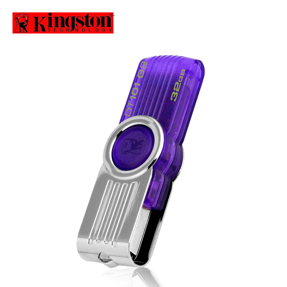 Original Kingston USB Flash Drive 32GB DT101G2 USB 2.0 Rotating Flash cle usb pendrive 32 gb pen drive Swivel Memory Stick