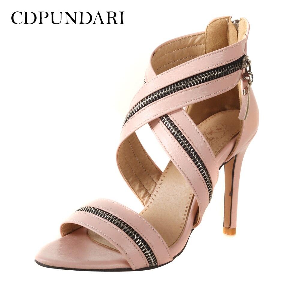 8ff397f6 Mujer Mujeres rosado Strap Alto Verano Gladiador Zapatos Tobillo Cdpundari  Sandalias Negro rojo Tacón wxqECSgBzF