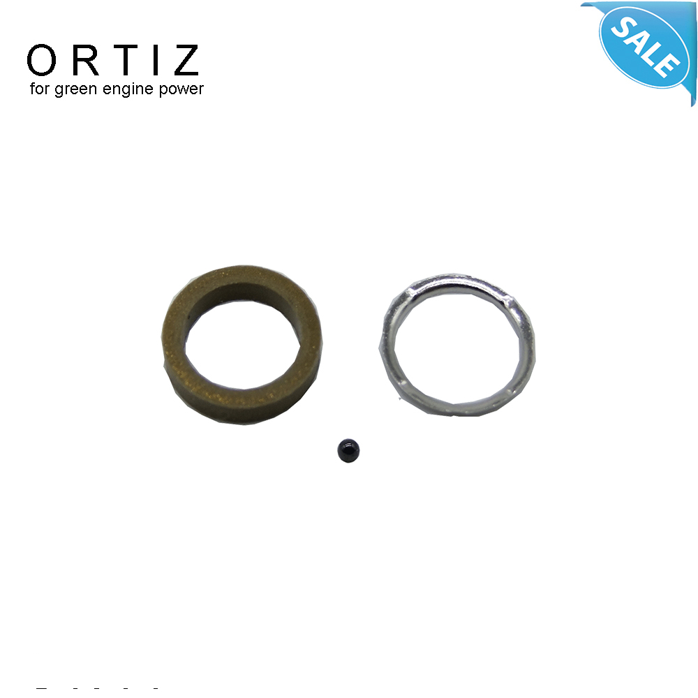 ORTIZ F00VC99002 with F00VC05009 common rail injector repair kit, fuel injection black ball repair kits for inyector 110 oil gun