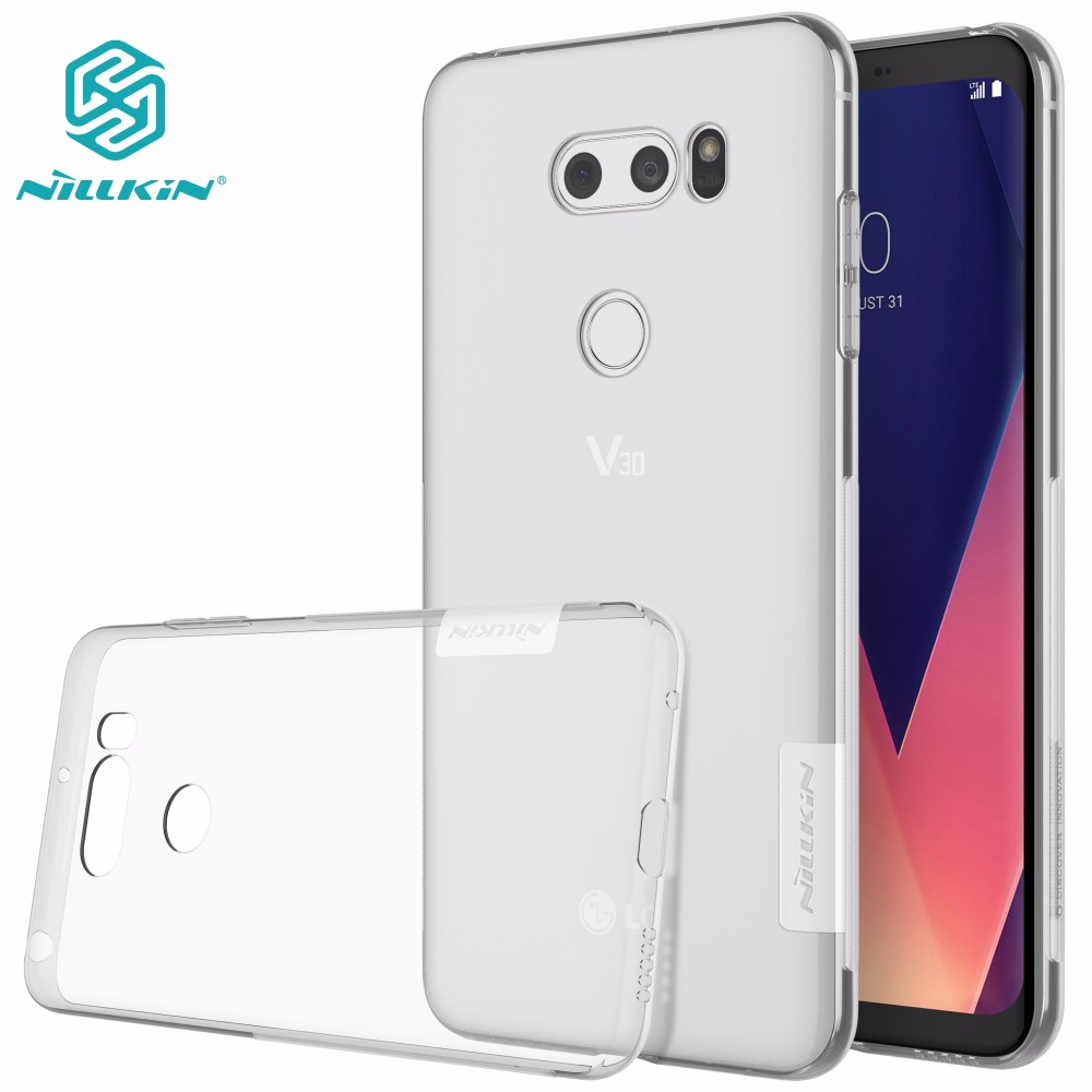 For LG V30 case cover NILLKIN Ultra Thin Transparent Nature TPU Case For LG V30 Clear TPU Soft Back cover +Retail packageFor LG V30 case cover NILLKIN Ultra Thin Transparent Nature TPU Case For LG V30 Clear TPU Soft Back cover +Retail package