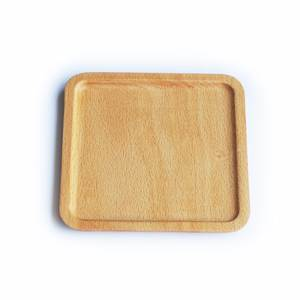 EgoClassic style Beech wood plate fruit dish tea tray