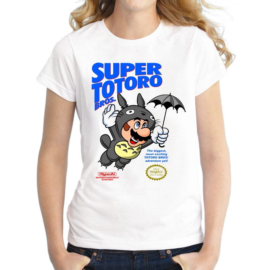 2018 New Fashion Super Totoro Design Women T Shirt Short ...