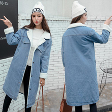 New 2019 Women Basic Coat Denim Jacket Women Winter Denim Ja