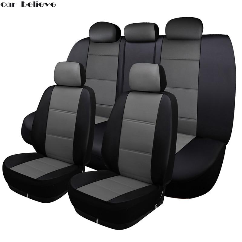 где купить Car Believe Universal Auto car seat cover For mercedes w204 w211 w210 w124 w212 w202 w245 w163 car accessories seat protector по лучшей цене