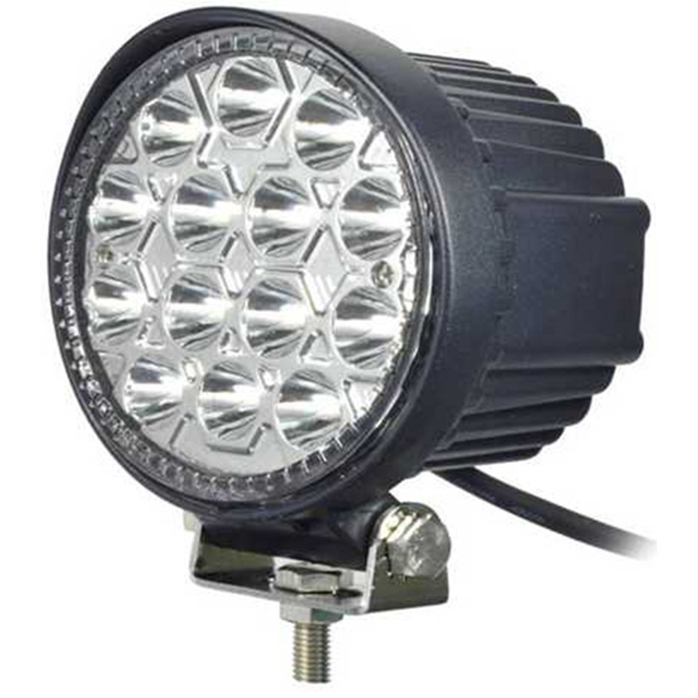 tripcraft 4 INCH 42W LED WORK LIGHT FLOOD/Spot BEAM OFFROAD FOR atv suv boat TRACTOR TRAILER waterproof 24w 12v 8 leds round flood beam tractor work lamp light for offroads trailer boat hot selling