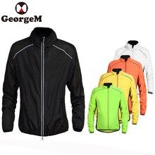 GeorgeM куртка Велоспорт ветровка Складная дождевик для велосипедного спорта Джерси Велосипедный спорт непромокаемые ветрозащитный со светоотражающими полоск