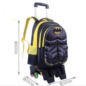 Image 2 - กระเป๋าเป้สะพายหลังโรงเรียน 6 Wheelers แข็งแรง Upstair ล้อเลื่อนกันน้ำเด็กโรงเรียนกระเป๋าล้อเด็กผู้หญิงกระเป๋าเดินทาง