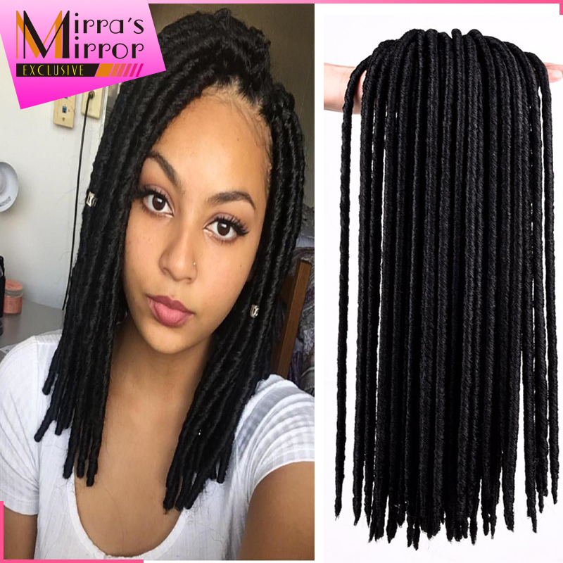 Crochet Faux Locs Braids 14inch Short Black Dreadlocks Braids Hair