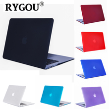 Rygou for Macbook Air 11 Case, Frosted Matte & Crystal Clear Hard Cover Shell for Mac Book Air 11.6 inch A1370 A1465 Laptop Case(China)