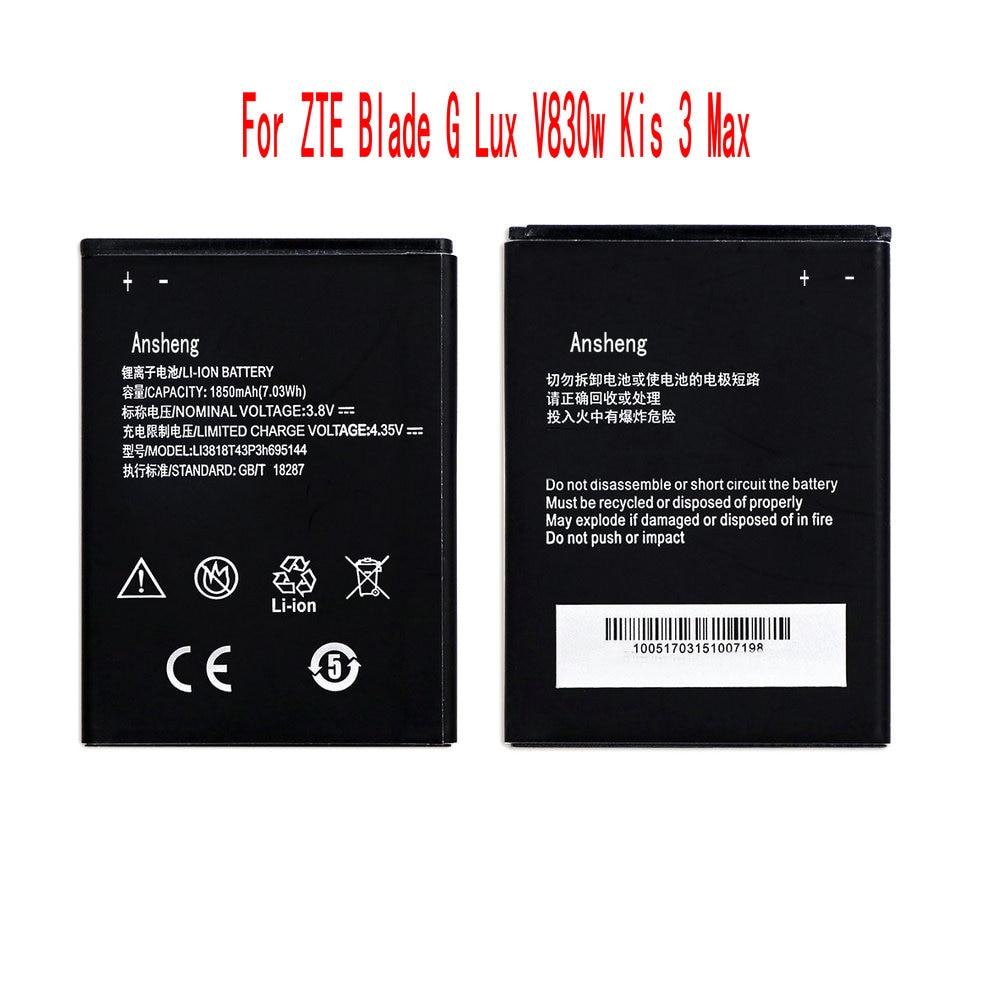 Оригинальный мобильный телефон Ansheng Li3818T43p3h695144, аккумулятор 1850 мАч для ZTE Blade G Lux V830w Kis 3 Max
