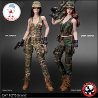 1/6 Scale Female Sniper Combat Suit Head Sculpt Military Soldier Clothes Boots Set CT014 For 12 Inches Action Figure Dolls