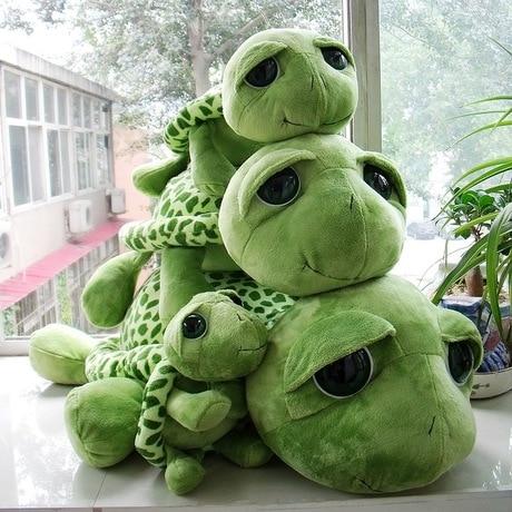 New arrived cartoon Big eyes green turtle plush toy
