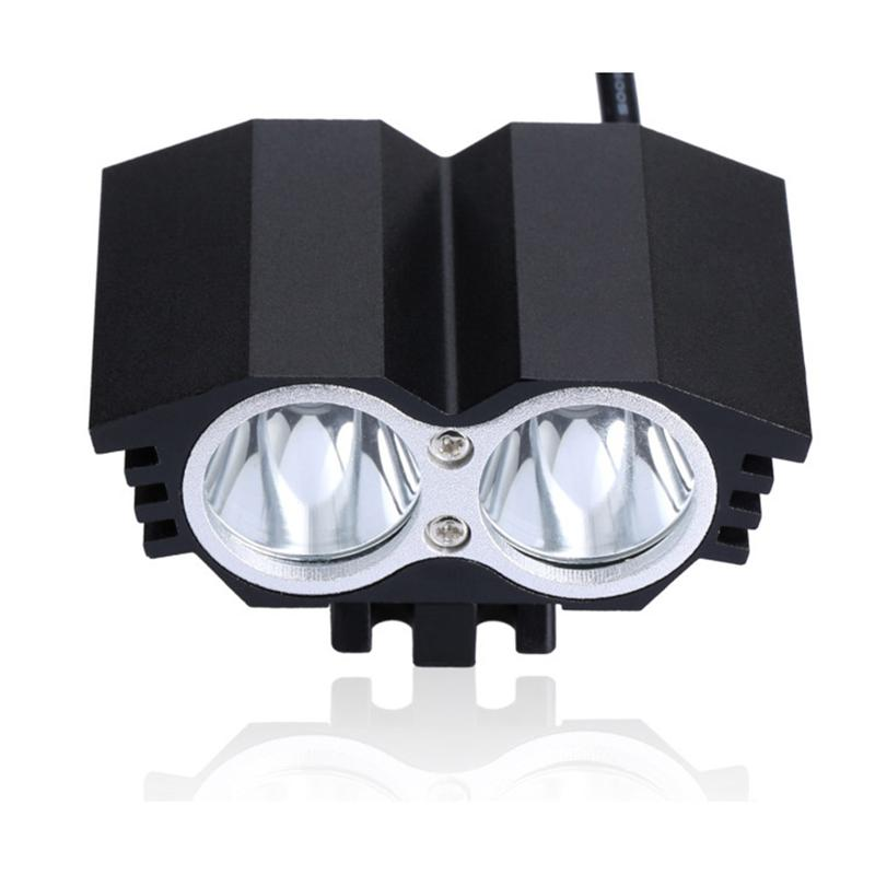 Waterproof 4-Mode LED Light Headlamp / Rearlight / Clip Light For Camping Fishing Hiking / AU/EU/UK/US-Plug Power Adapter