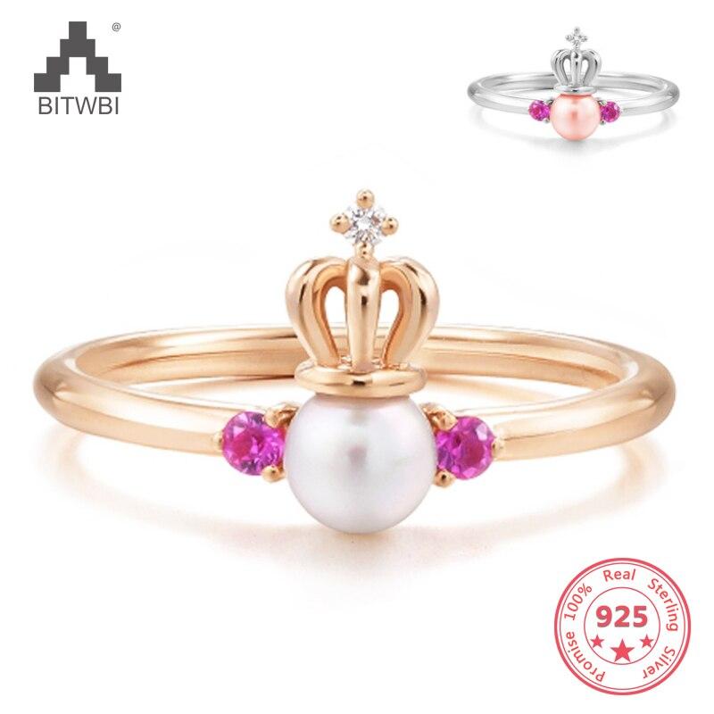 100% 925 Sterling Silber Natürliche Perle Ring Zirkon Schmuck Offenen Ring Für Frauen Liebhaber