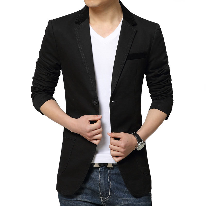 Mens Black Blazer Jacket Photo Album - Reikian