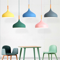 Nordic Macaron 7 Color LED Chandelier Lighting Kitchen Fixtures LED Pendant Lamps Bedroom Living Room Hanging Lamps Luminaire