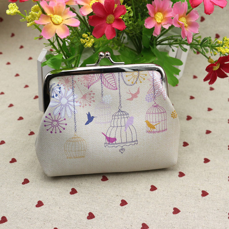 DUDINI Brand New PU Leather Women Coin Purse Floral Printing Money Bag Wallet Girls Change Pocket Pouch Hasp Keys Bag 2017 new fashion design women cute pu leather change purse wallet bag girls coin card money pouch portable purse small bag jan12