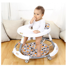 Baby Walker with 6 Mute Rotating Wheels Anti Rollover Multi-functional Child Walker Seat Walking Aid Assistant First Step Car цена и фото