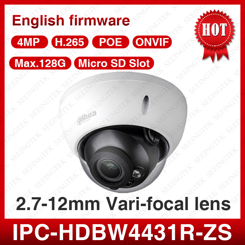 Dahua IPC HDBW4431R ZS 4MP POE 2 8 12mm Motorized EXIR Outdoor CCTV Security IP Camera