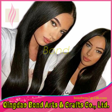 2016 New Soft 8A Brazilian virgin human hair silk straight front lace wig glueless full lace wigs for black women