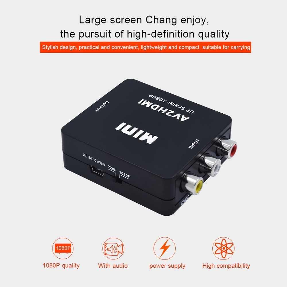 Adaptateur de câble Audio pour convertisseur vidéo professionnel Mini AV2HDMI RCA AV CVBS vers HDMI adaptateur de câble Audio pour moniteur de détartreur Composite