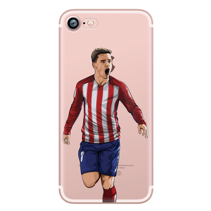 new style f0e94 c90e1 Phone case messi neymar cristiano ronaldo barcelona football jersey for  iphone 7 6s 6 8 plus 5s 5 se x 10 transparent silicone