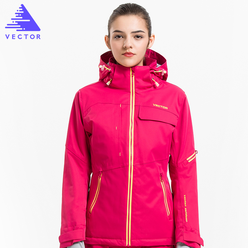 VECTOR Ski Jacket Women Warm Waterproof Winter Coat Female Snowboard Skiing Jackets Winter Outdoor Sport Clothing 60031 2017 outdoor 3in1 ski jacket women waterproof winter warm fleece snow jacket thermal coat female sports skiing snowboard jackets