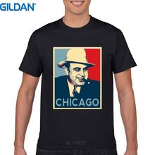 26748f22bbf 2017 Newest Funny T Shirt Homme Al Capone Italian Gangster Chicago Hope  Obama Short-Sleeve