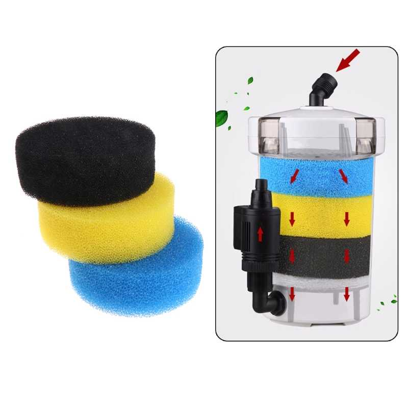 Aquarium Filter Sponge Three Color Soft Useful Seal Accessories Fish Tank Tackle  HW-602/HW-602B/HW-603/603B