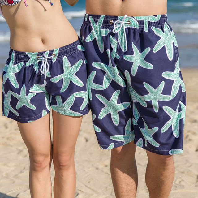 f80b420a51ed Traje de baño para parejas Surf mujeres nadar corto hombre natación Shorts  hombres Quick Dry Beach Board Shorts mujer verano traje de baño mujer ...