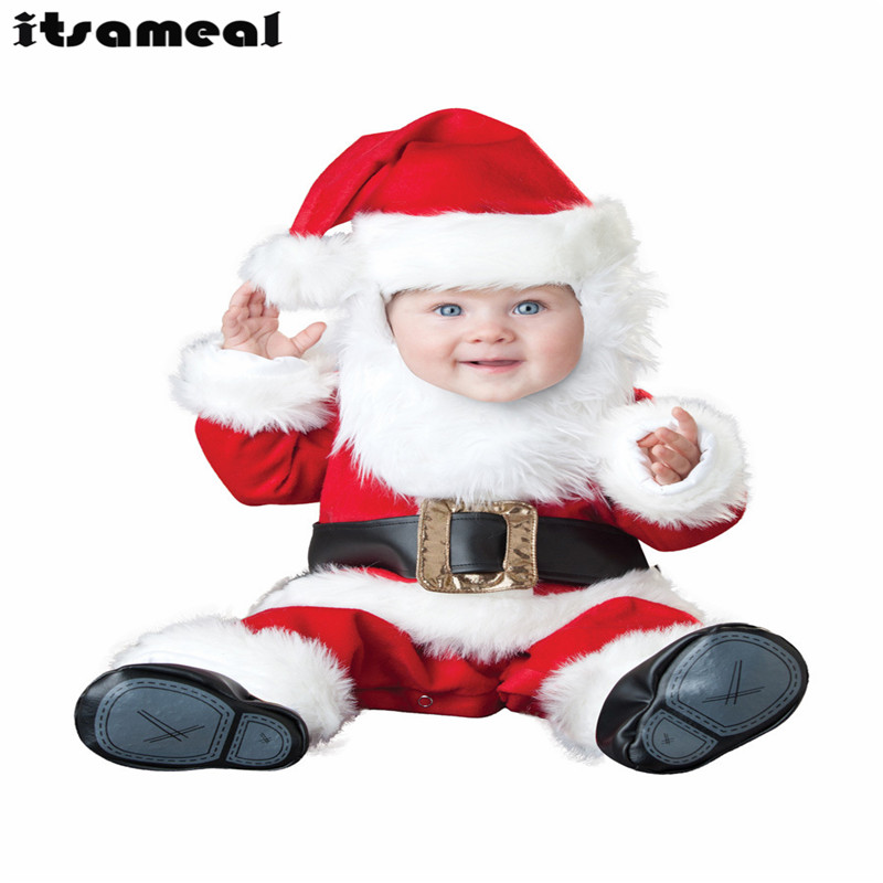 Baby Boy Toddler Santa Claus  Movie Character Cosplay Fancy Dress Halloween Party Carnival Costumes Christmas gifts