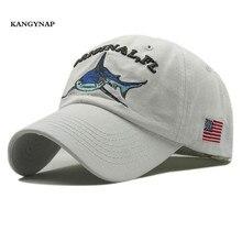 KAGYNAP  nueva moda hombres mujeres Snapback gorras tiburón bordado  algodón gorra de béisbol sombrero 31fb867848e