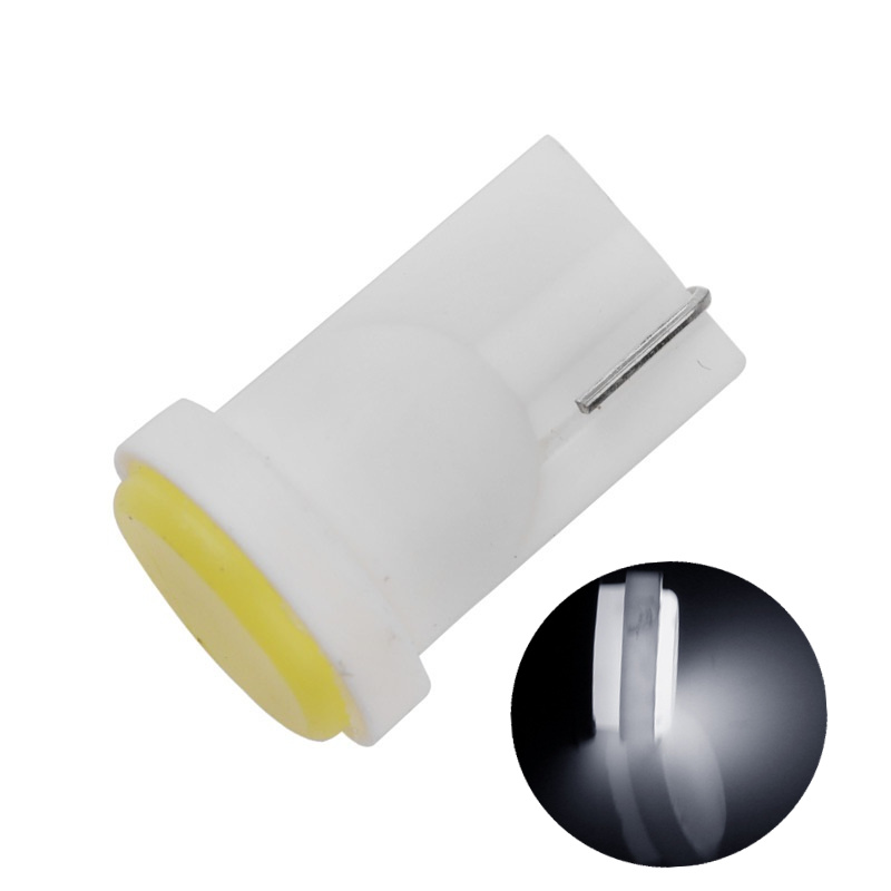 Ceramic Car Interior LED T10 COB W5W 168 Wedge Door Instrument Side Bulb Lamp Car Light Plate Light White/Blue/Green/Red/Yellow 2 pcs car side light interior bulb