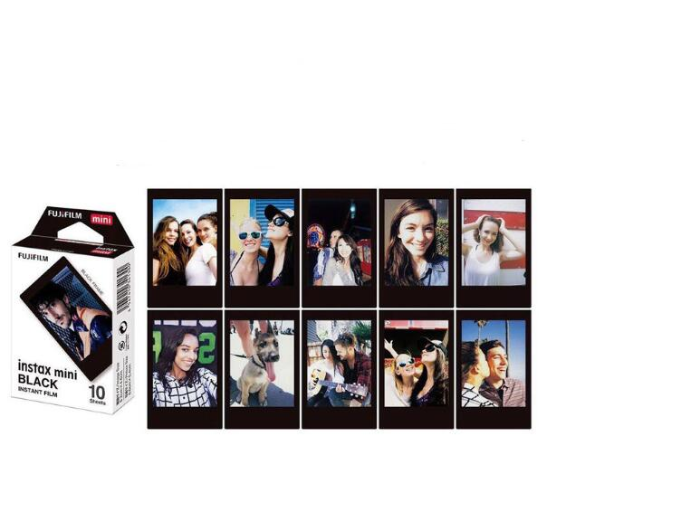 Fujifilm Instax Mini 8 Film 10 Sheets Fuji Black edge Photo Paper For Polaroid mini 8