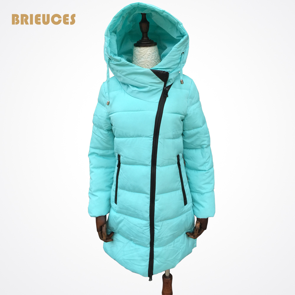 Brieuces 2017 thickening wadded jacket outerwear winter jacket women parka cotton-padded jacket hooded  jacket and coat brieuces winter jacket women 2017 long cotton padded hooded jacket parka female wadded jacket outerwear winter coat women