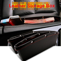 2pcs Leather Car Storage Organizer High Quality Car Bag Box Car Seat Gap Slit Pocket Holder Black/Brown/Beige Colors