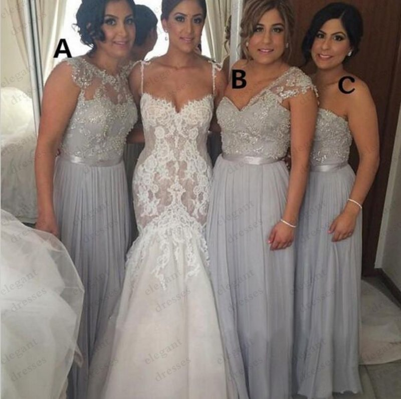 Popular Long Grey Bridesmaid Dresses-Buy Cheap Long Grey ...