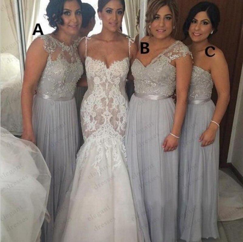 Long Grey Bridesmaid Dresses - Wedding Dress Ideas