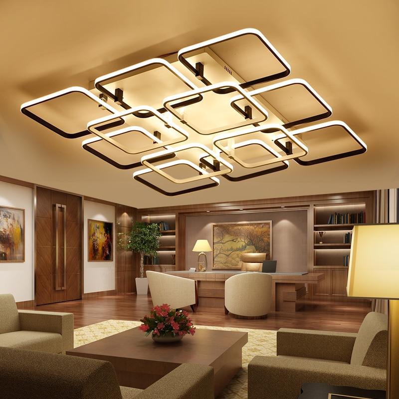Verllas New modern led ceiling chandelier lights for living room bedroom square art Indoor acrylic Ceiling chandelier Lamp Fixtu