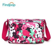 Findpop New Women Shoulder Bags 2017 Fashion Casual Canvas Floral Crossbody Bags Waterproof Printing Ladies Single