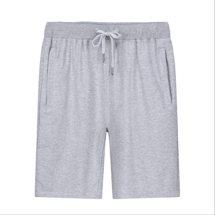Verano nuevos hombres de Deporte Pantalones cortos casuales de los hombres pantalones de algodón plus-tamaño de punto de cinco punto Pantalones de los hombres Pantalones de deporte P-1