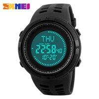 SKMEI Brand Compass Watches 5ATM Water Proof Digital Outdoor Men S Sports Watch Countdown Wrist Watches