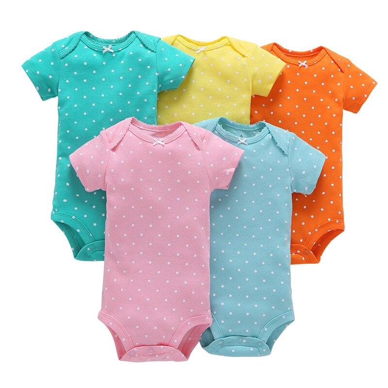 Детский хлопковый комбинезон, 5 шт., летняя одежда для мальчиков 5