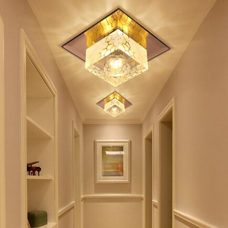 Minimalistisches 5W D18CM Quadrat LED Kristalllicht Kronleuchter - Innenbeleuchtung