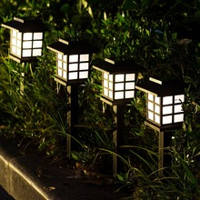Outdoor LED Solar Powered Garden Path Stake Lanterns Lamps Spotlight Pathway Landscape Retro Solar Underground light