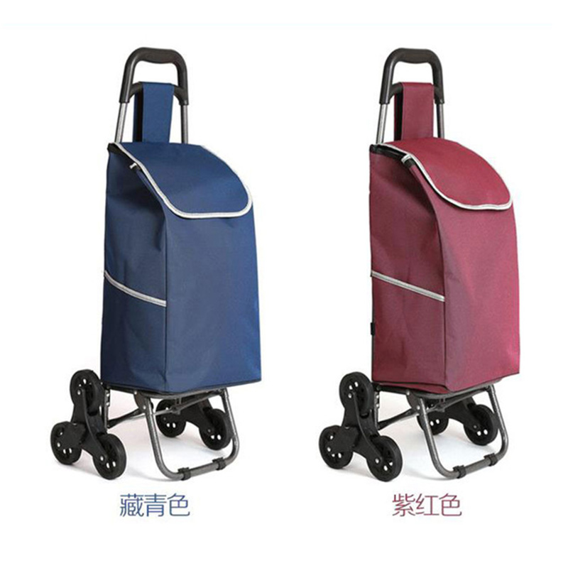 все цены на Three-wheeled folding cart lady or old shopping cart shopping cart hand puller trolley large-capacity portable home bags