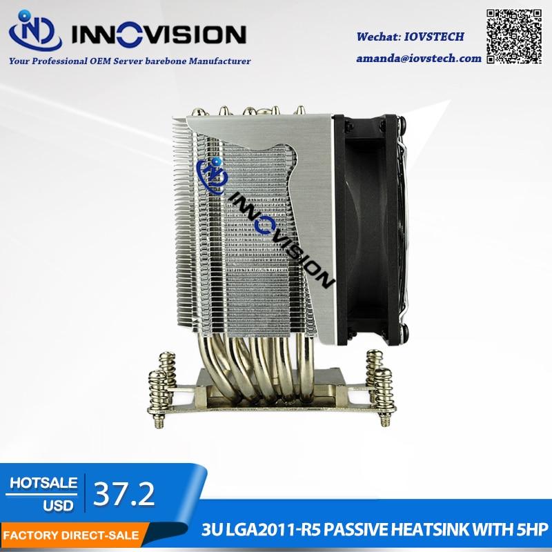 LGA 1366 ventilateur de refroidissement et radiateurs, refroidisseur de processeur, refroidisseur de processeur en cuivre LGA1356, refroidisseur de serveur, refroidisseur de processeur 3U, ventilateur cpu 3U
