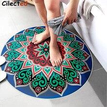 Cilected India Mandala Lotus Totem Round Floor Carpet Bohemian Living Room Decor Colorful Kids Bedroom Anti