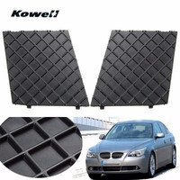 KOWELL 2PCS Left Right Black Front Bumper Lower Mesh Grill Trim Cover For BMW 5 Series